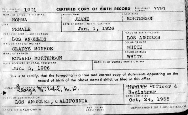 Marilyn_Monroe_Birth_Certificate (1)